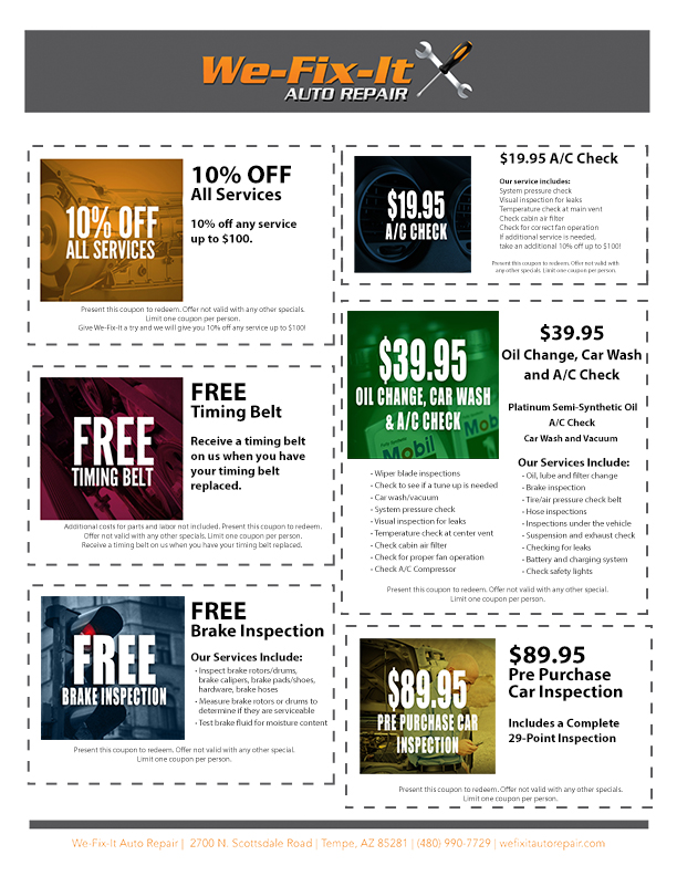 Car Inspection Coupons >> Pre Purchase Inspection Coupon Auto Repair Scottsdale Tempe We
